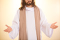 Resurrected Messiah with arms open Royalty Free Stock Photo