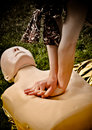 Resuscitation. First aid training. HDR photo Stock Images