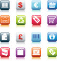Retail button icon set Royalty Free Stock Photo