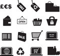 Retail icon set Royalty Free Stock Photos