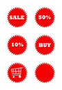 Retail sale buttons Royalty Free Stock Photos