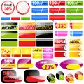 Retail sales tags shopping collection vector elements Stock Images