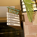 Retail store shopping directory american mall sign with arrows Stock Image