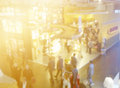 Retail trade show blurred image of people at Royalty Free Stock Photos