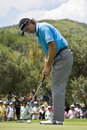 Retief Goosen - Putting Out - NGC2009 Royalty Free Stock Photo