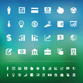 Retina business and finance finance icon set illustration eps Stock Photos