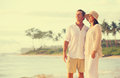 Retired Couple on the Beach Royalty Free Stock Photo
