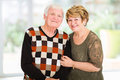 Retired senior couple portrait of cute at home Royalty Free Stock Photo