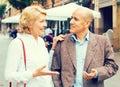 Retiree couple walking Royalty Free Stock Photo