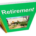 Retirement Book Shows Advice For Pensioners Stock Photos