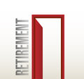 Retirement door open illustration design over a white background Royalty Free Stock Image