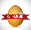 Retirement egg illustration design over a white background Royalty Free Stock Images