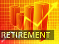 Retirement finances Royalty Free Stock Images