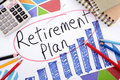 Retirement plan, pension fund growth planning Royalty Free Stock Photo