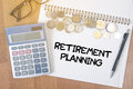 Retirement planning Royalty Free Stock Photo