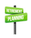 Retirement planning road sign illustration design over a white background Royalty Free Stock Photos