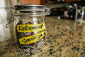 Retirement Savings Money Jar