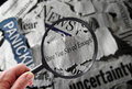 Retirement savings news question Royalty Free Stock Photo