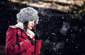 image photo : Beautiful winter portrait