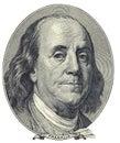 Retrato de Benjamin Franklin Imagens de Stock