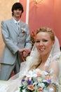 Retrato de casamento da noiva e do noivo. Fotografia de Stock Royalty Free