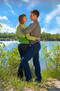 Retrato do amor na natureza Imagem de Stock Royalty Free