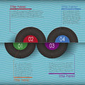 Retro abstract d vinyl infographics can be used for workflow layout diagram number options web design Royalty Free Stock Image