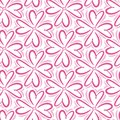 Retro abstract heart seamless pattern. Vector illustration for romantic nostalgia design. Can be used for wallpaper, cover fills,