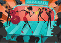 Retro Abstract Jazz Festival Poster Royalty Free Stock Photo
