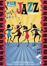 Retro Abstract Jazz Festival Poster Royalty Free Stock Photo