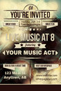 Retro abstract party invitation flyer template with a background design Stock Photo