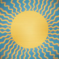 Retro abstract sun background with rays Stock Images