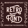 Retro alphabet font with alternates. Letters, numbers and symbols.