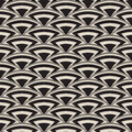 Retro antique seamless pattern in art deco style monochrome Stock Photography