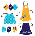 Retro apron set Stock Images