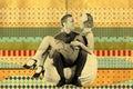 Retro Art Collage With Couple