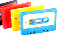 Retro audio cassettes Royalty Free Stock Photography
