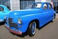 Retro auto show. Blue GAZ Pobeda (Soviet-made auto Royalty Free Stock Photos