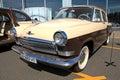 Retro auto show. GAZ Volga (Soviet-made automobile Royalty Free Stock Images