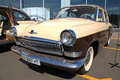 Retro auto show. GAZ Volga (Soviet-made automobile Stock Photography