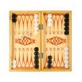 Retro backgammon game Royalty Free Stock Photo