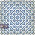 Retro backgroun background seamless pattern included in swatch menun Stock Photo