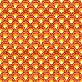 Retro Background With Orange C...
