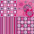 Retro Background [Pink] Royalty Free Stock Photo