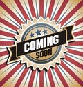Retro background with promotional message vector label vintage banner coming soon text Royalty Free Stock Photo