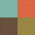 Retro background set with white polka dots Royalty Free Stock Photo
