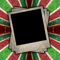 Retro background striped paper with photo frame Royalty Free Stock Photos