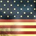 Retro Background With Usa Flag...