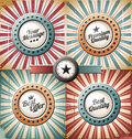 Retro backgrounds and labels Royalty Free Stock Images