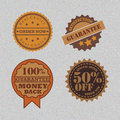 Retro badge design banner emblem seal shape Royalty Free Stock Photography